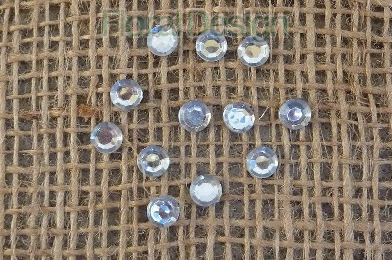 Diamant mini silver 6mm