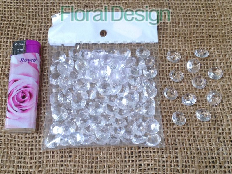 Diamant plast 12mm natur