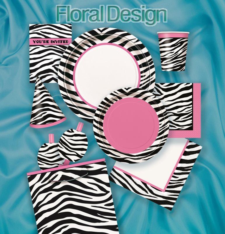 """Papírový talíř 23cm """"Zebra"""" 8ks"""