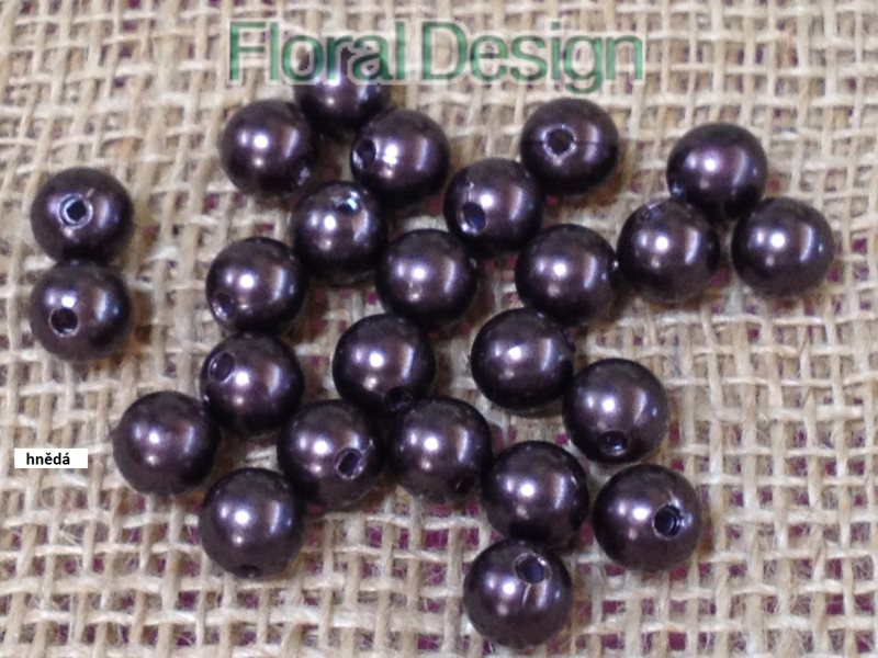 Perličky 10mm / 120ks violet