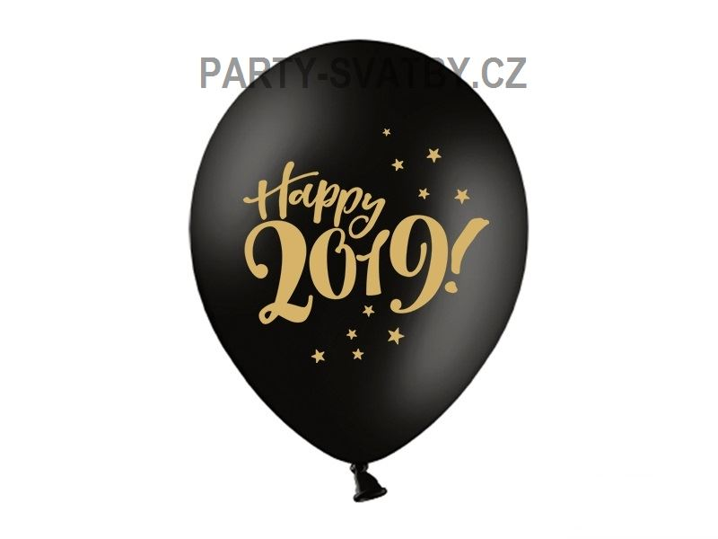 "Balonek 30cm ""Happy New Year 2018"", 6 ks"