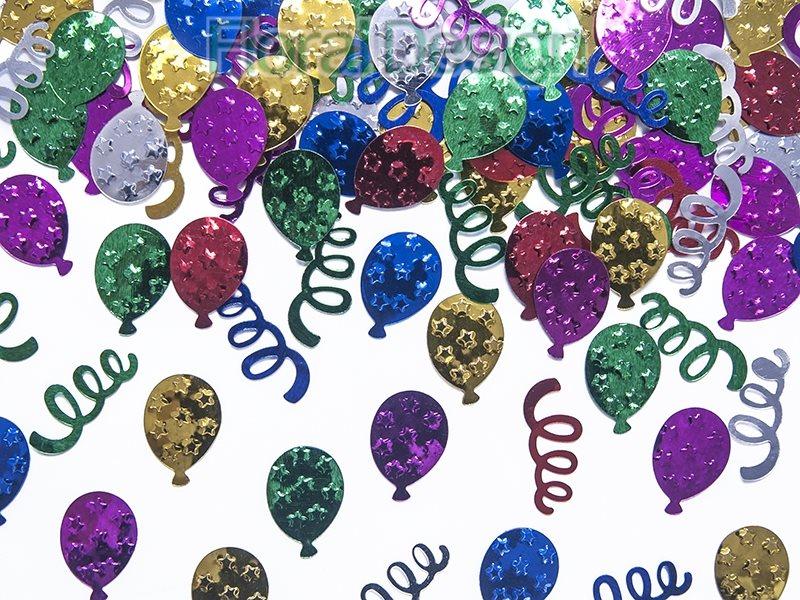 Konfety Balonky metalické