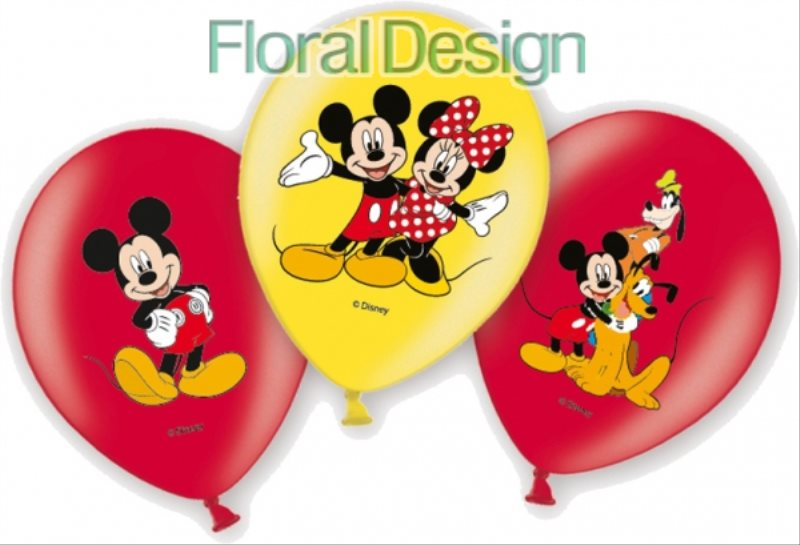 "Balonek 6 ks latex 28cm 6 ks ""Mickey mouse"""