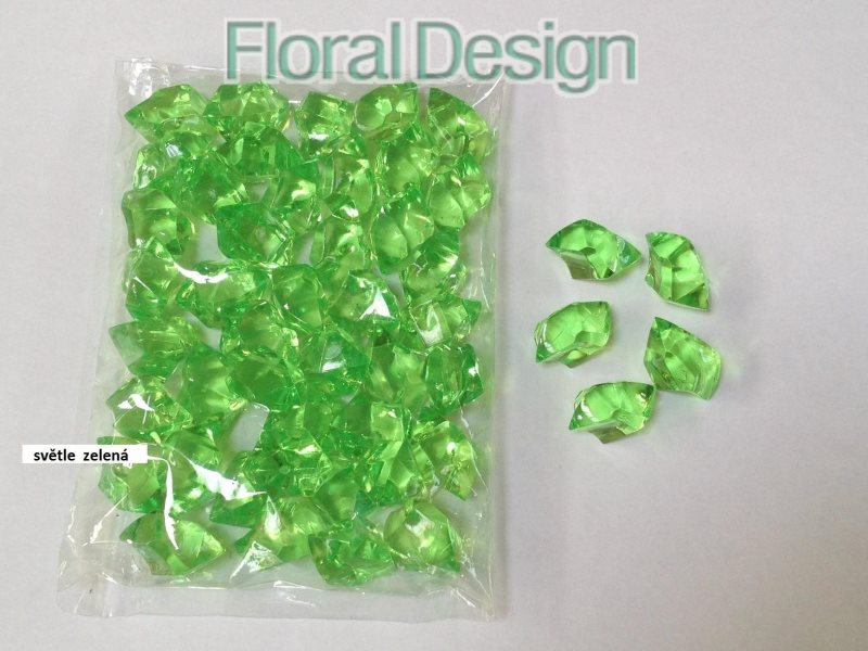 Diamant plast 20mm sv.zelená