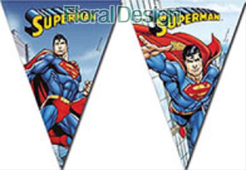 "Banner 9 vlajek  ""Superman"""
