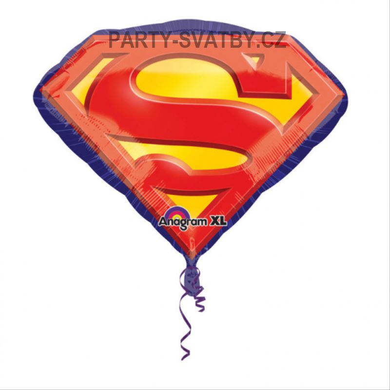 "Balon foliový  66x50cm ""Superman"""
