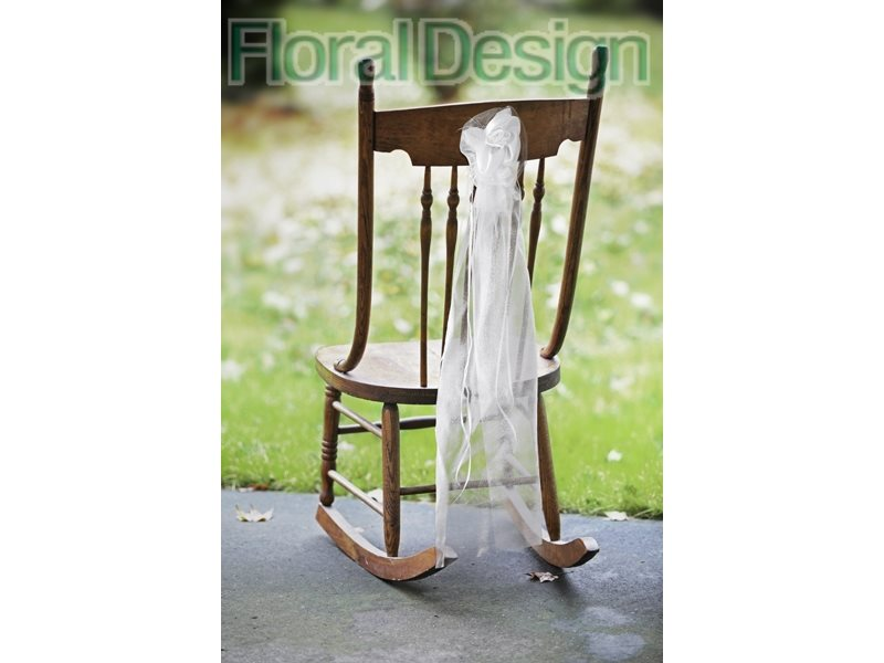 Ozdoba na židle 90cm bílá