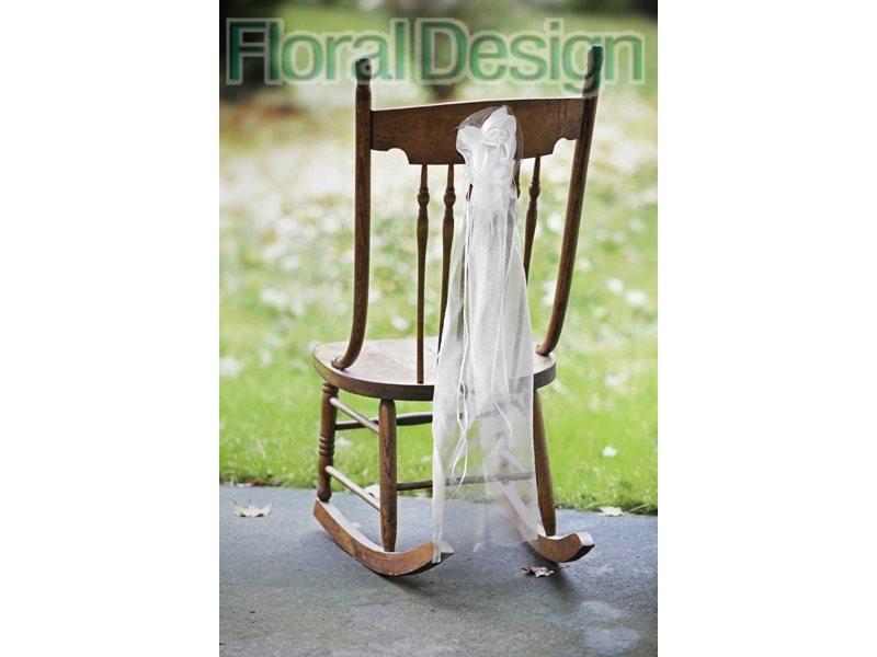 Ozdoba na židle 90cm krémová