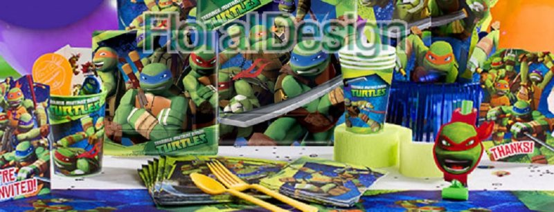 """Papírový talíř 23x23cm """"Želvy Ninja"""" 8ks"""