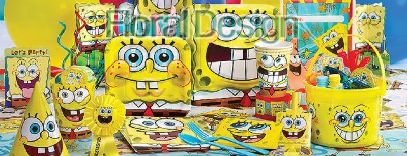 "Papírový talíř 23x23cm ""SpongeBob"" 8ks"