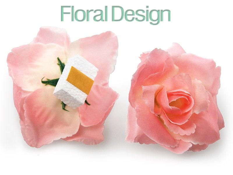 Růže lepící průměr 9cm, 24 ks růžová