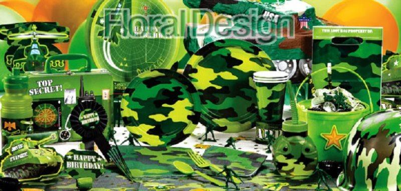 "Plastový ubrus 135 x 210cm ""Army"""