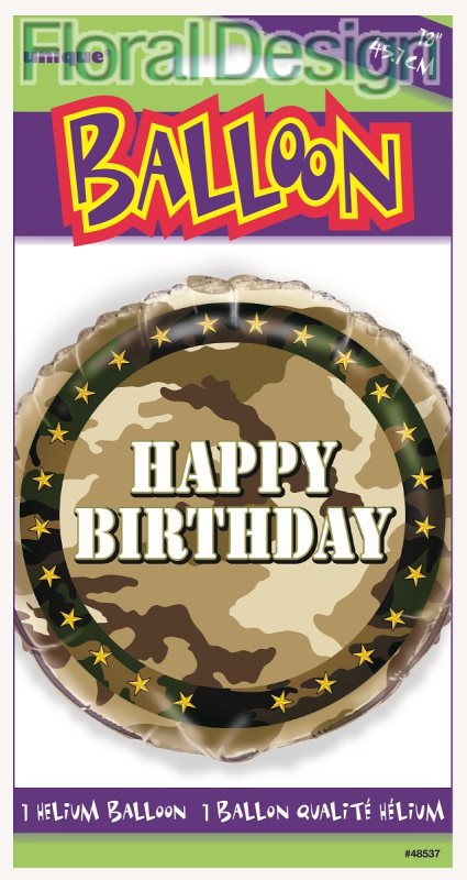 Balonek foliový 45cm Army