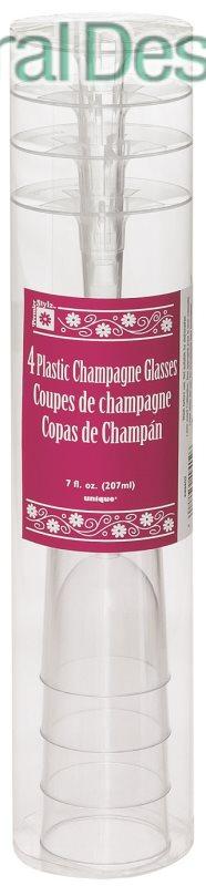Plastová sklenička na Champagne 4 ks