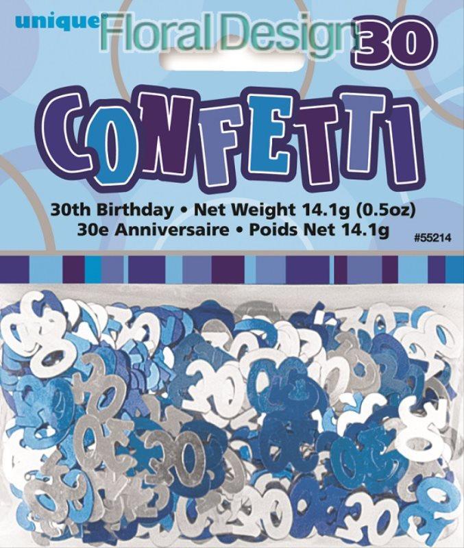 """Konfety """"30-narozeniny"""" modrá"""