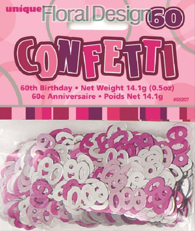 """Konfety """"60-narozeniny"""" růžová"""