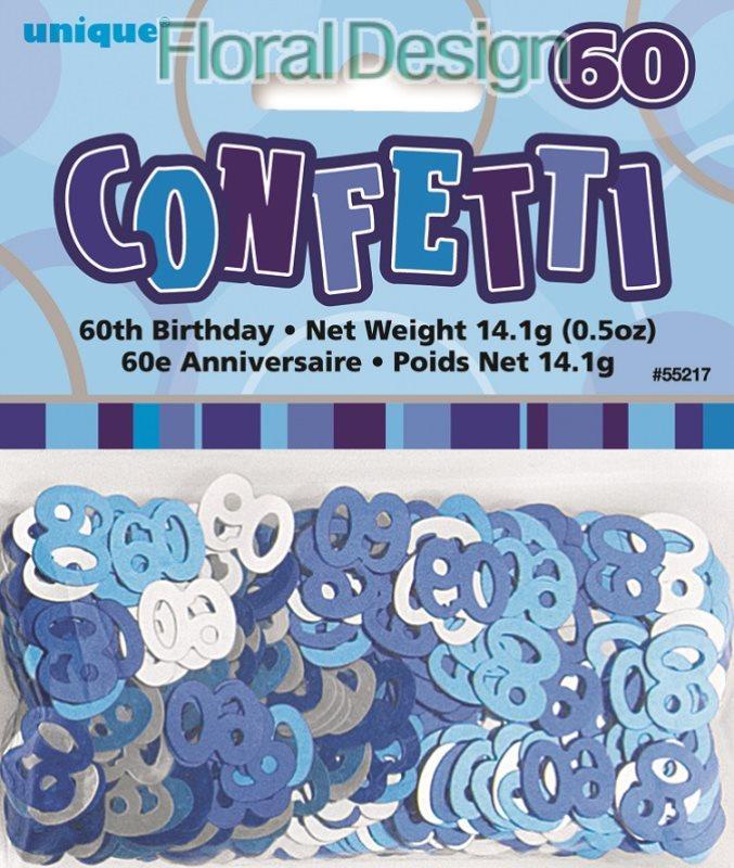 """Konfety """"60-narozeniny"""" modrá"""