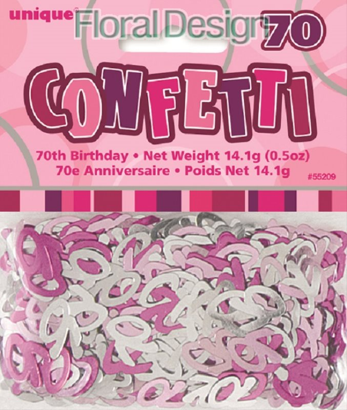 """Konfety """"70-narozeniny"""" růžová"""