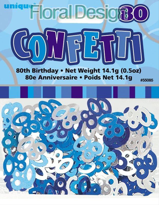 """Konfety """"80-narozeniny"""" modrá"""
