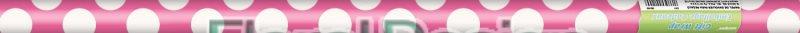 Balící papír 76 x 150cm puntík růžová