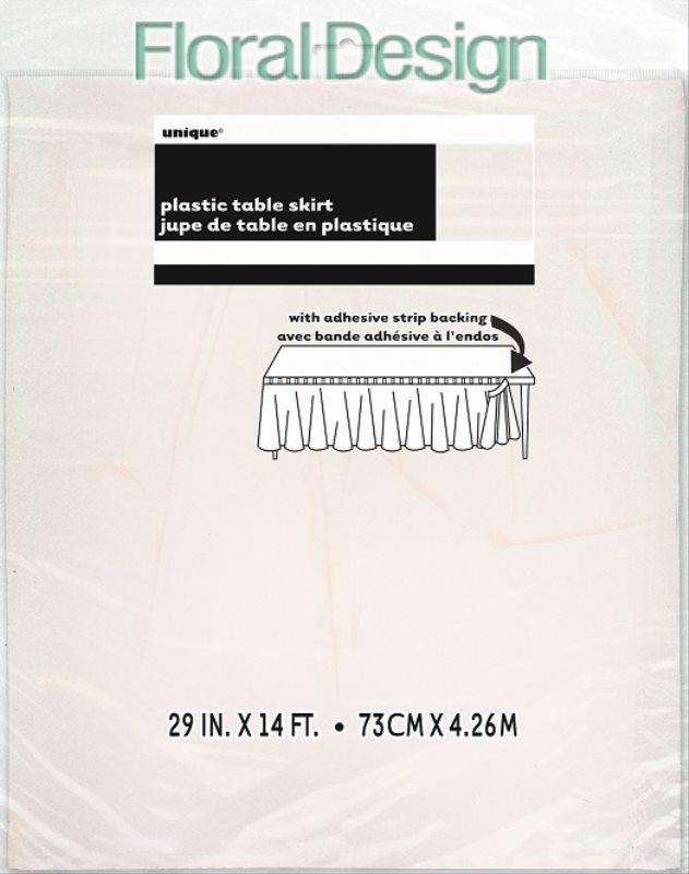 Sukně plastová 73cm x 420cm bílá