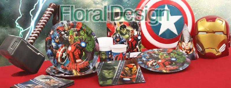 """Baner 9 vlajek  """"Avengers"""""""