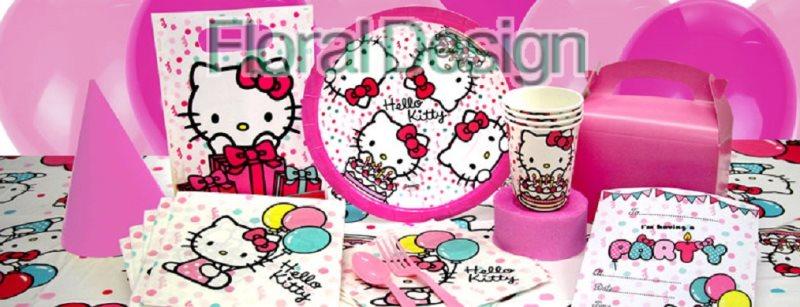 """Papírový talíř 20cm """"Hello Kitty"""" 8ks"""