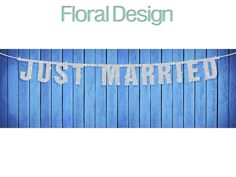 """Baner 19 x 170cm """"Just Married"""""""