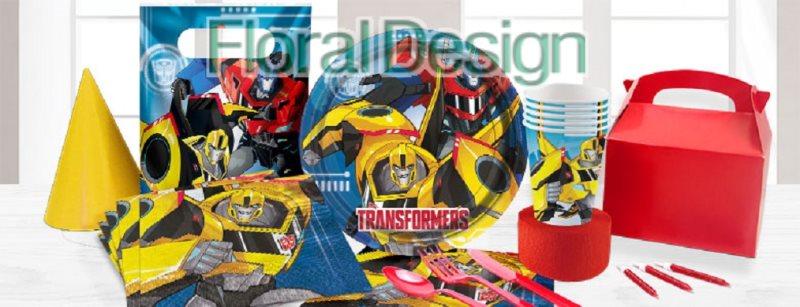 """Papírový talíř 23cm """"Transformers"""" 8ks"""