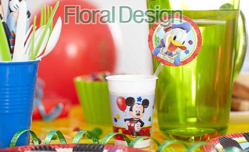 """Brčka plastová """"Mickey mouse"""" 6ks"""