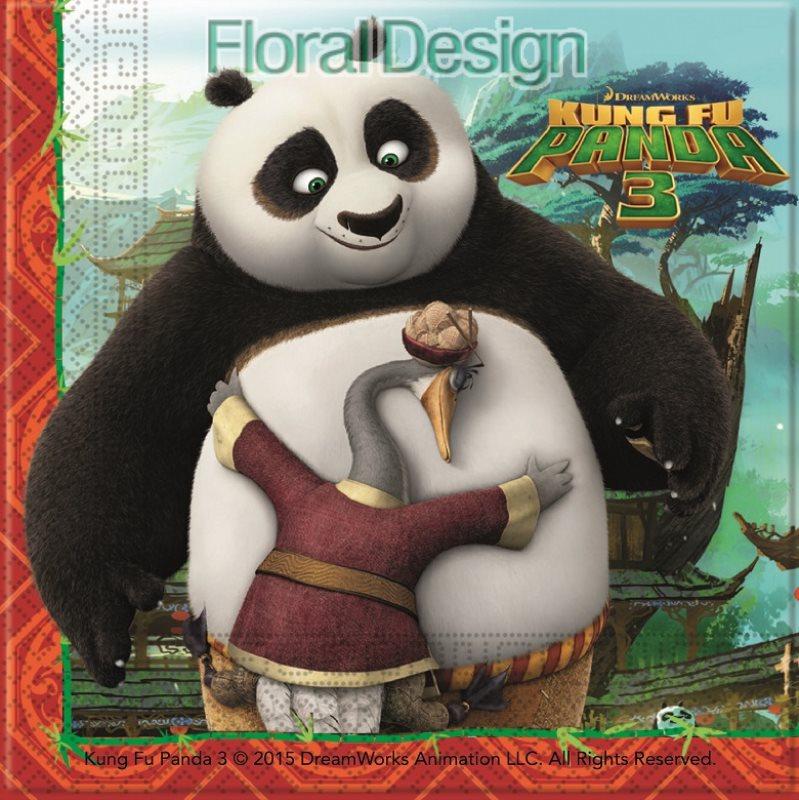 "Ubrousek 33cm dvouvrstvý ""Kung-Fu Panda"" 20ks"