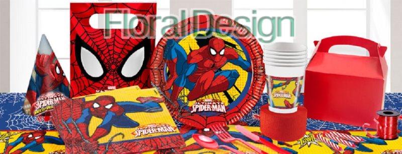 """Ubrousek 33cm dvouvrstvý """"Spiderman""""  20ks"""