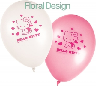 "Balonek pastel 28cm ""Hello Kitty"" 8ks"