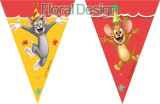 "Baner 9 vlajek  ""Tom a Jerry"""
