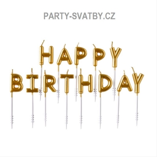 """Happy birthday"" svíčky"